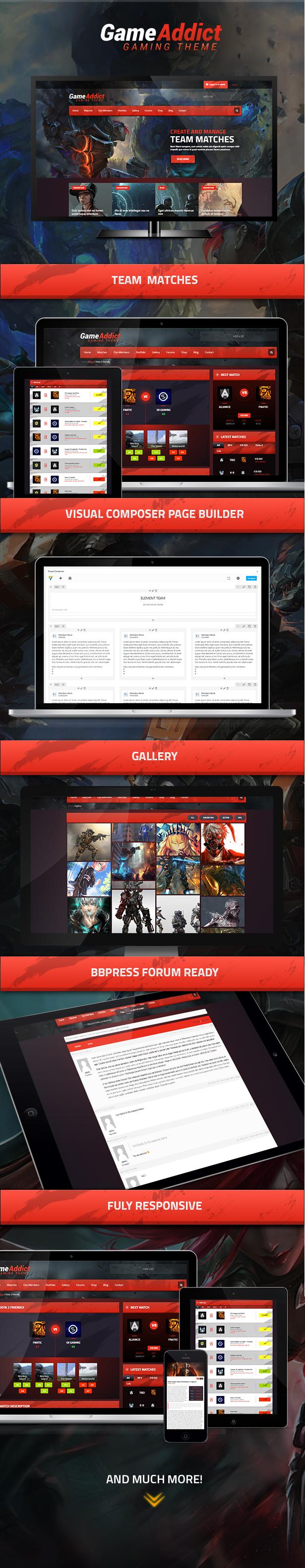 Game Addict - Clan War Gaming Theme Download