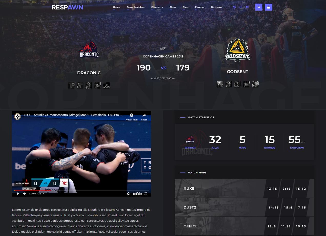 Match Page