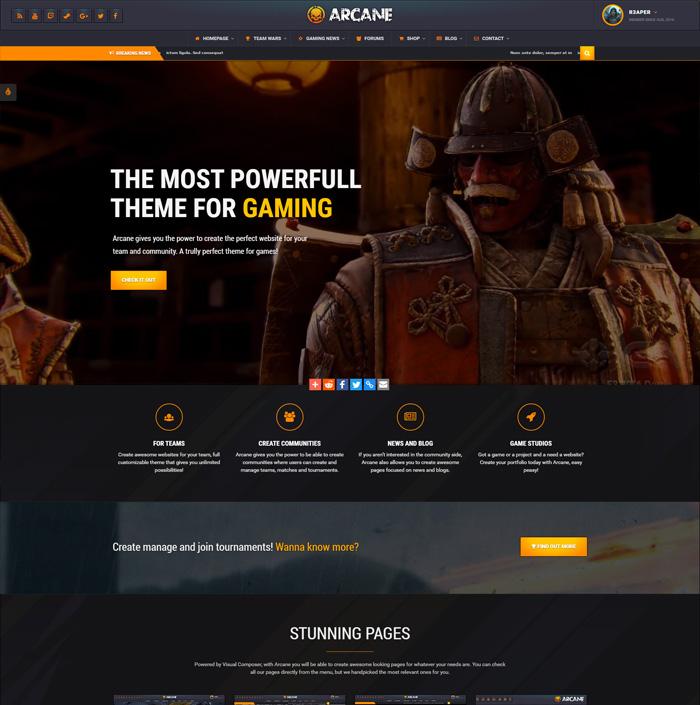 Arcane HTML | Skywarrior Themes