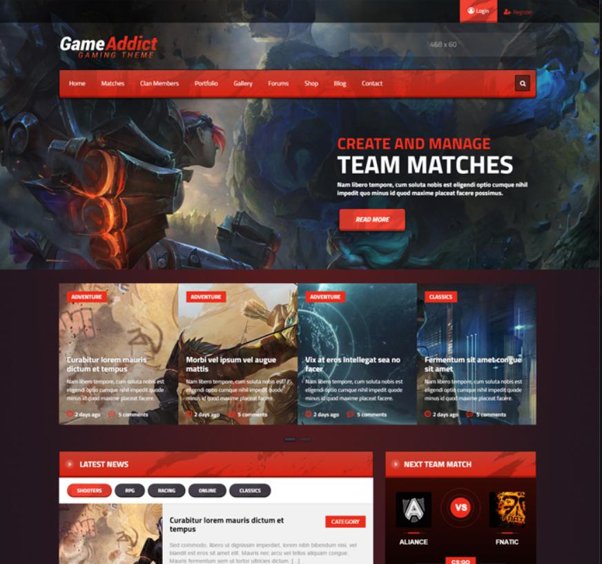 Gaming theme eSports